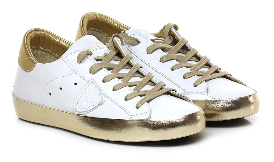 Sneaker White/gold Philippe Model Paris