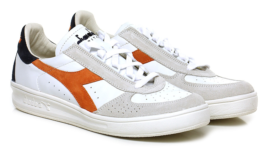 Sneaker White/orange/navy Diadora Heritage Mode billige Schuhe