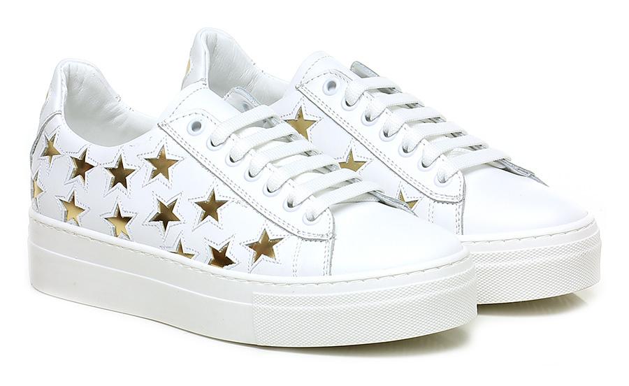 Sneaker Bianco/oro Lemare' Scarpe economiche e buone