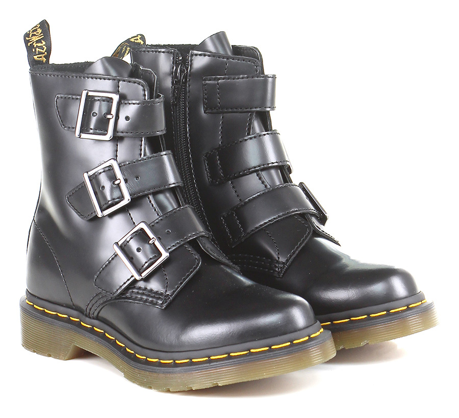 Polacco Black Dr. Martens Verschleißfeste billige Schuhe