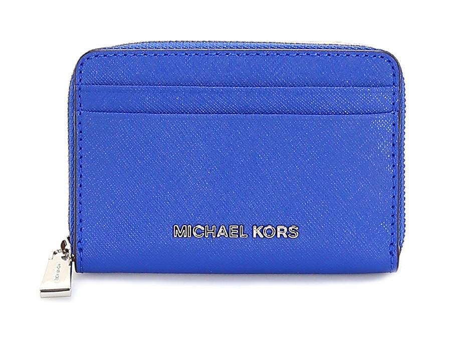Portafoglio money pieces electric blue michael kors le - Porta tessere e banconote ...