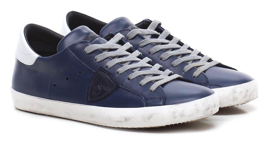 Sneaker Blue/white Philippe Model Paris Hohe Qualität