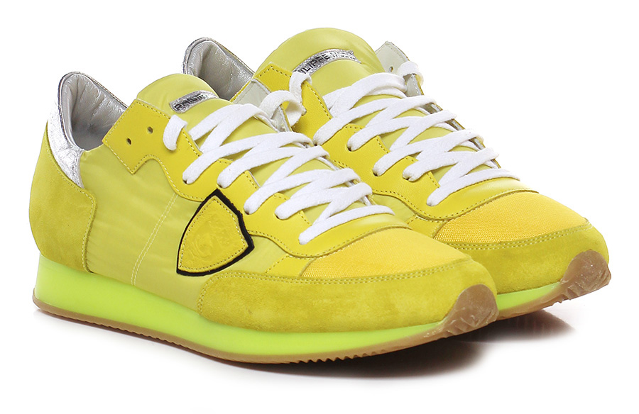 Sneaker Yellow/silver Philippe Model Paris Hohe Qualität