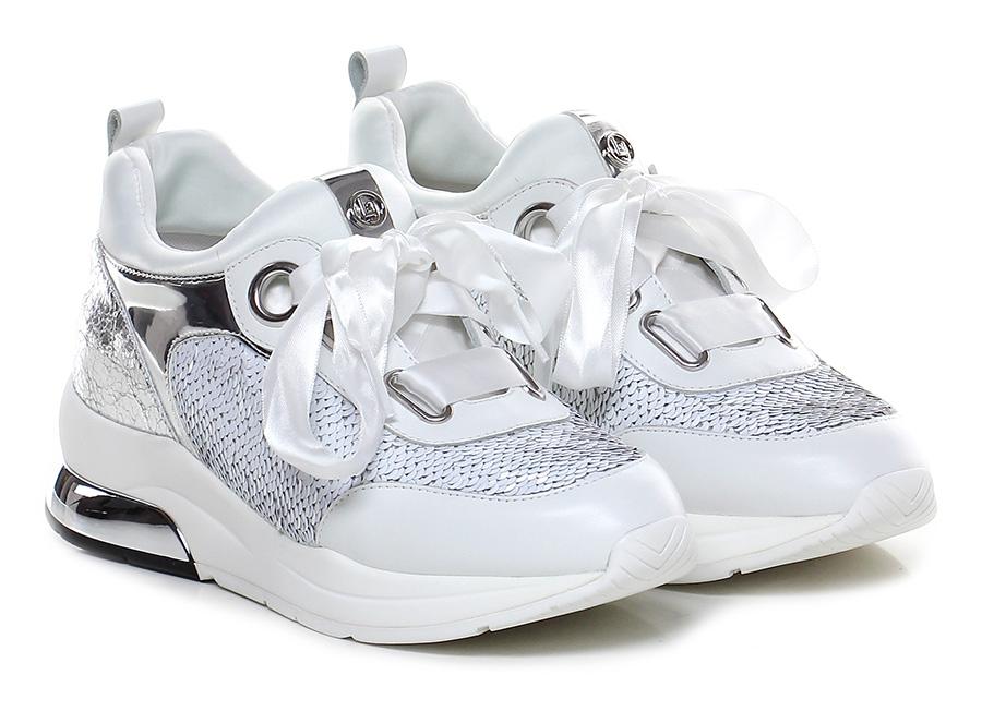 Sneaker Bianco/argento Liu.jo Scarpe economiche e buone
