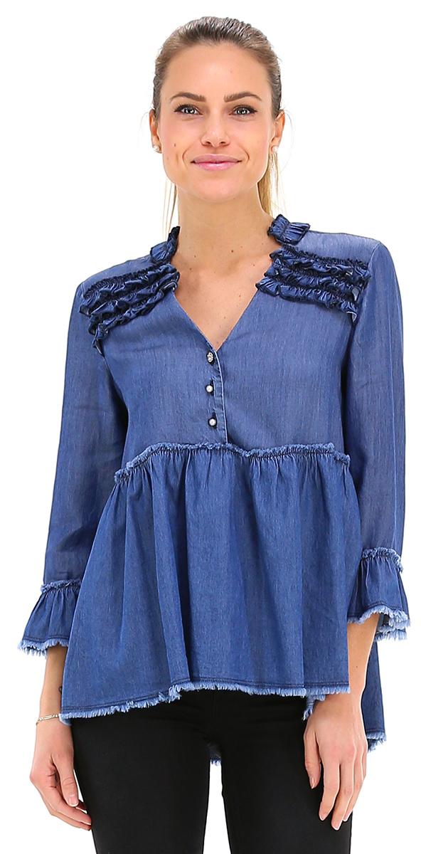 classcic abbigliamento sportivo ad alte prestazioni bellissimo a colori Camicia Den.blue Liu.jo - Le Follie Shop