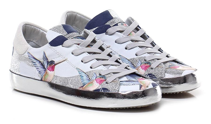 Sneaker White/silver Philippe Model Paris Mode billige Schuhe