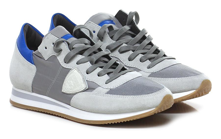 Sneaker Grey/bluette Philippe Paris Model Paris Philippe Hohe Qualität b88f39