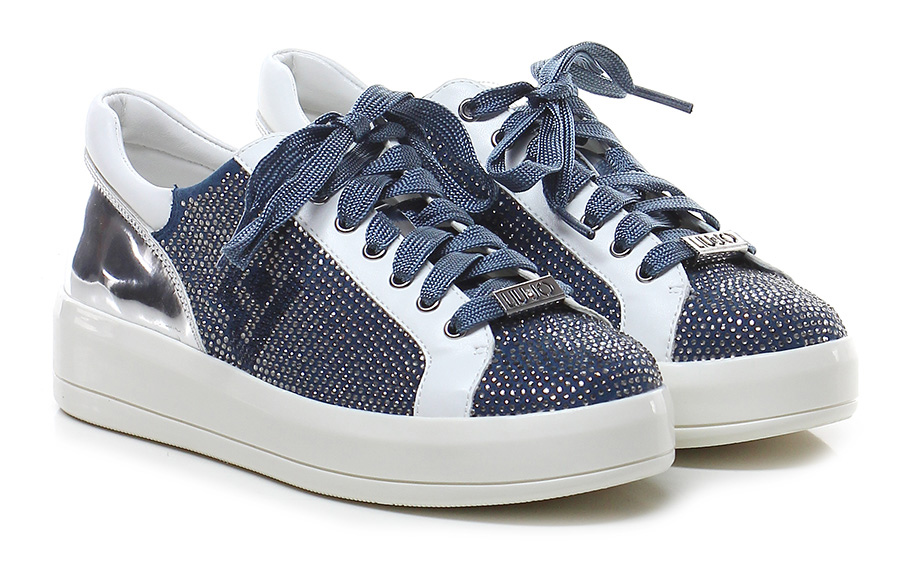 Sneaker Bianco/denim Liu.jo Scarpe economiche e buone