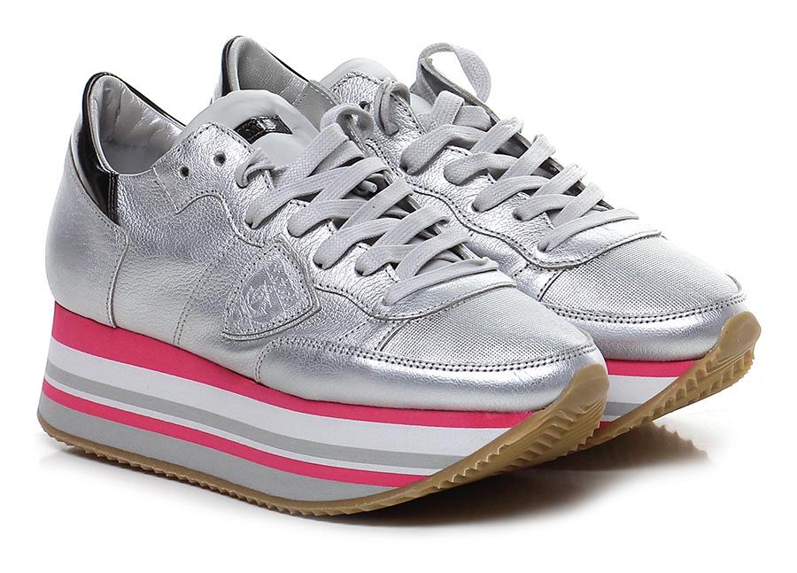Sneaker Silver Philippe Model Paris Mode billige Schuhe