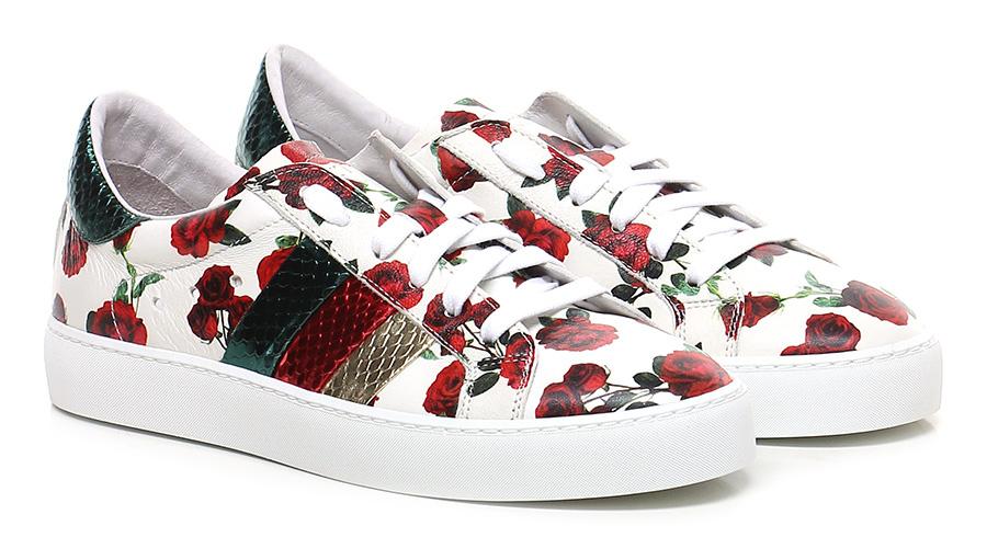 Sneaker Bianco/rosso Stokton
