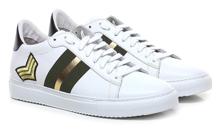 Sneaker Bianco/verde Stokton