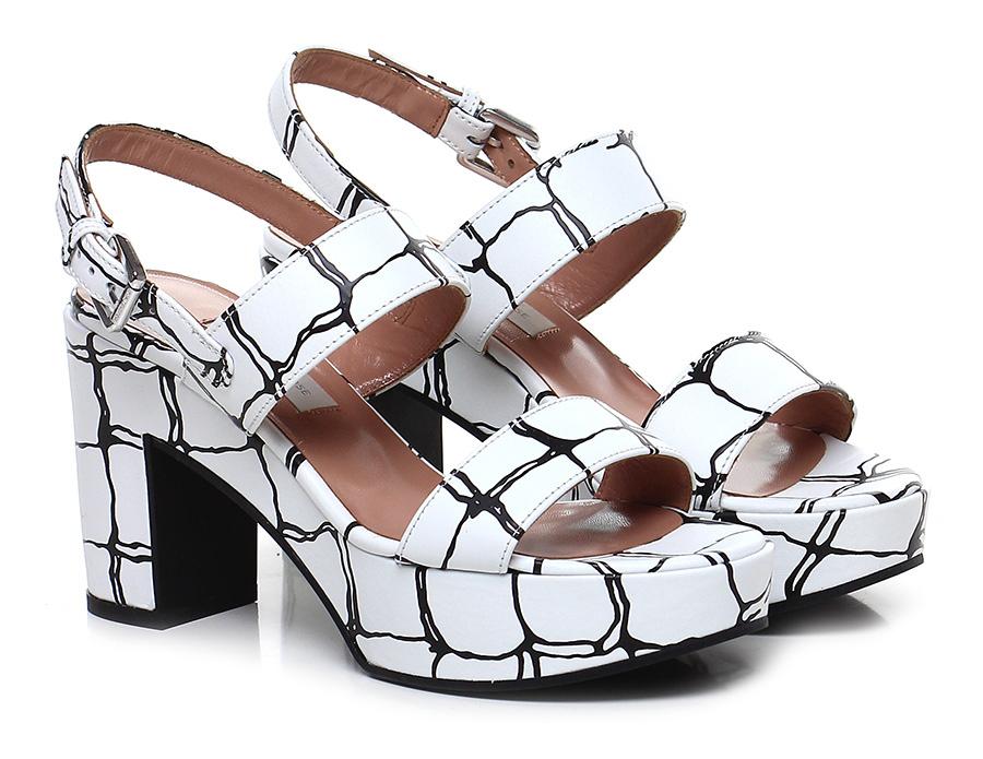 Sandalo alto  L White/black L  autre Chose a9515f