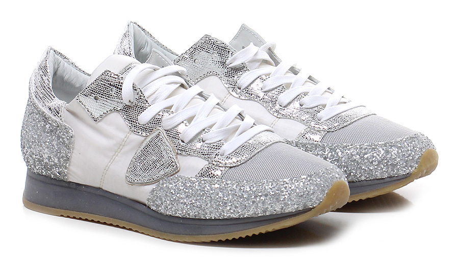Sneaker White/silver Philippe Paris Model Paris Philippe Mode billige Schuhe 98ee14