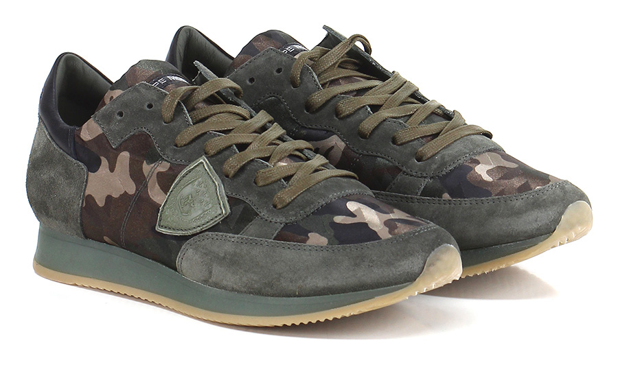 TurnschuheOlive/camouflage Philippe Philippe TurnschuheOlive/camouflage Model Paris 52448b