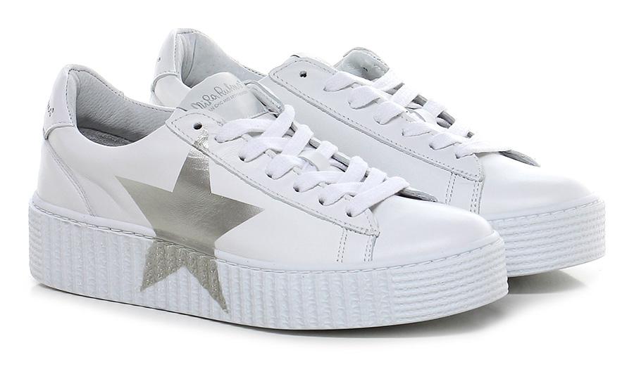 Sneaker Bianco/alluminio Nira Rubens Mode billige Schuhe
