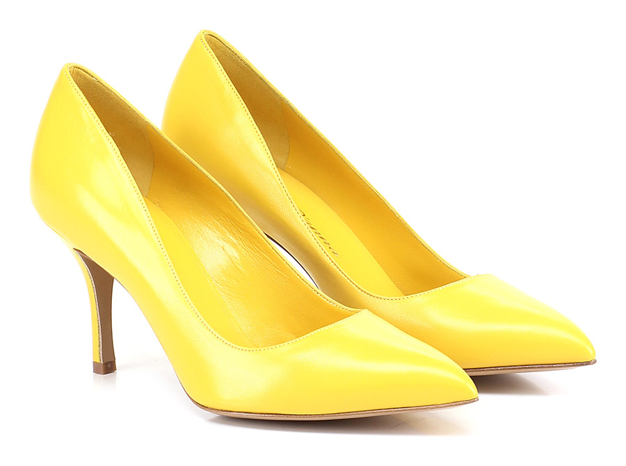 Decolletè Giallo Rosario D'anna Mode billige Schuhe