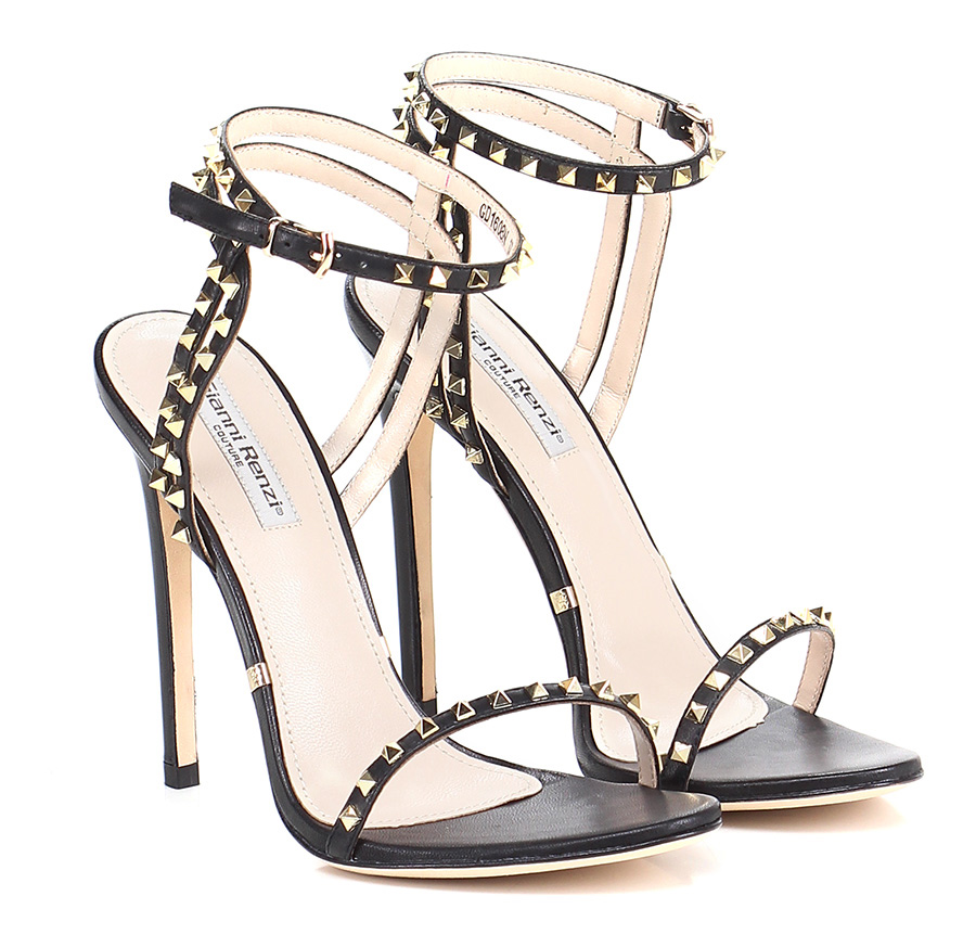 Sandalo  alto  Sandalo Nero Gianni Renzi Couture e6381b