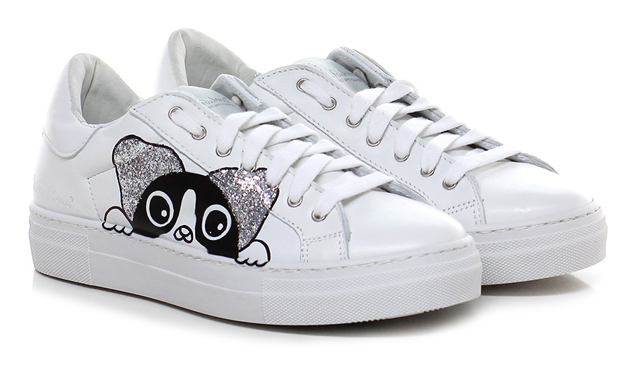 Sneaker Bianco/nero Nira Rubens Verschleißfeste billige Schuhe