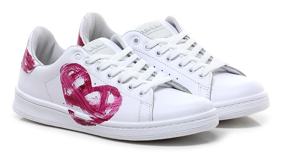 Sneaker Bianco/porpora Nira Rubens Verschleißfeste billige Schuhe