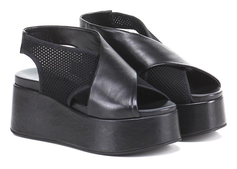 Zeppa Nero Strategia Mode billige Schuhe