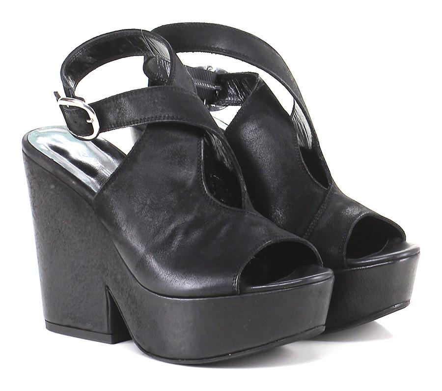 Sandalo alto alto alto Nero Strategia Mode billige Schuhe 285ce4