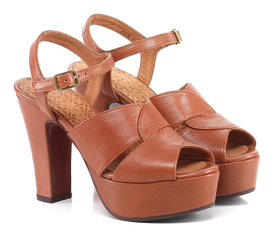 Sandalo alto Mattone Chie Mihara Hohe Qualität