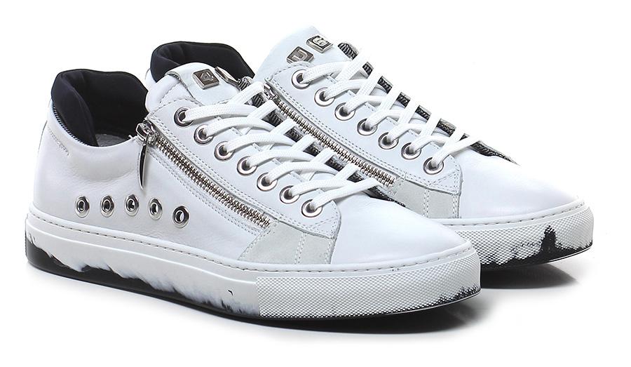 Sneaker White Paciotti 4US Verschleißfeste billige Schuhe