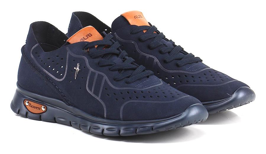 Sneaker Navy Paciotti 4US Verschleißfeste billige Schuhe