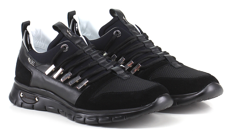 Sneaker Black Paciotti 4US Mode billige Schuhe