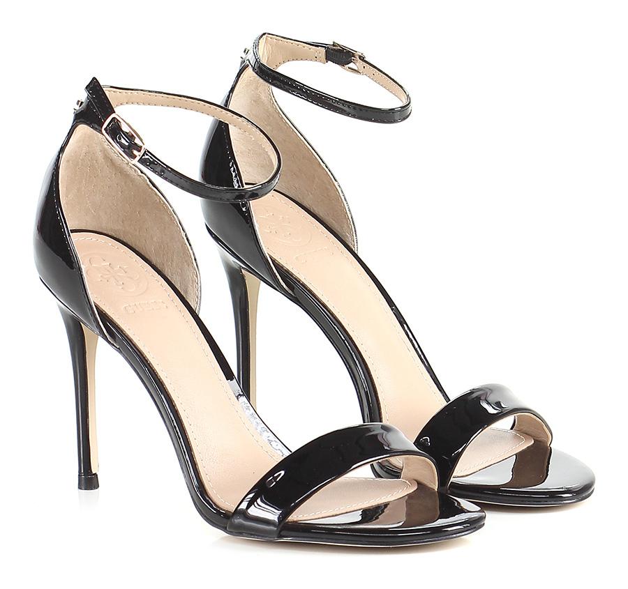 Sandalo alto Black Guess Verschleißfeste billige Schuhe