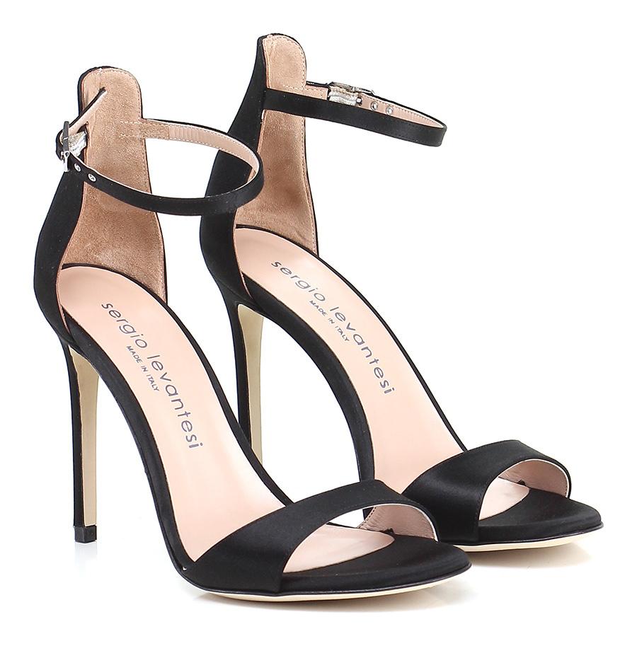 Sandalo alto Nero Sergio Levantesi Hohe Qualität