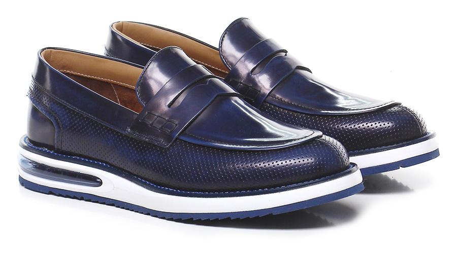 Mocassino Navy Barleycorn Mode billige Schuhe