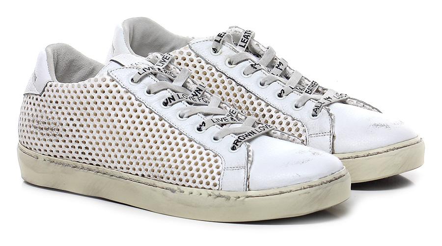 Sneaker White Leather Crown Verschleißfeste billige Schuhe