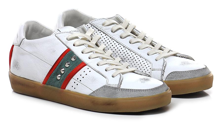 Sneaker White\green\orange Leather Crown