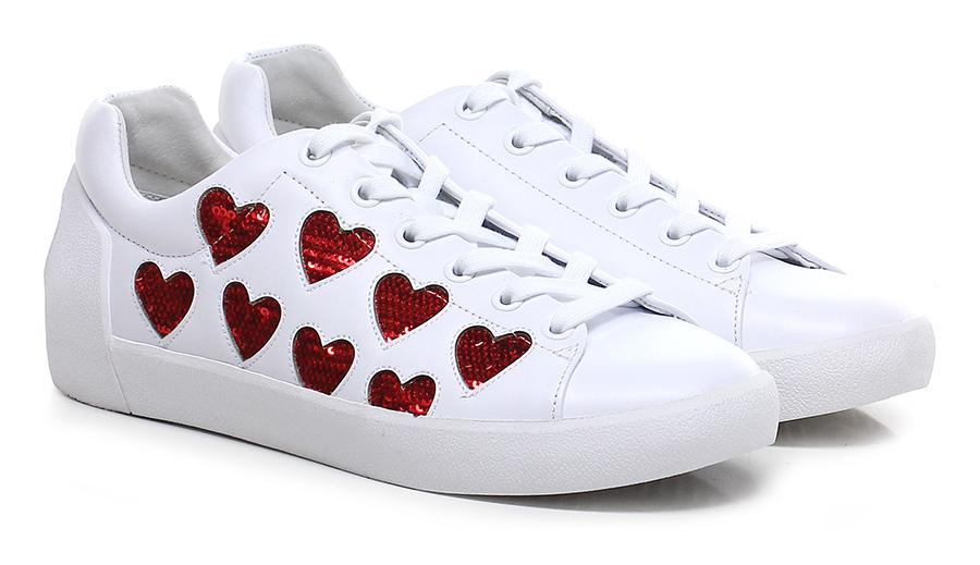 Sneaker White\red ASH Verschleißfeste billige Schuhe