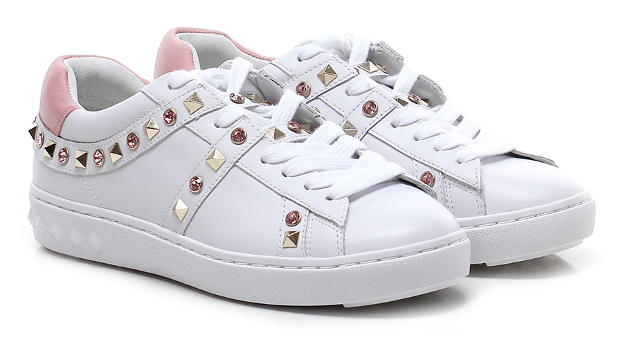 Sneaker White/pink ASH  Mode billige Schuhe