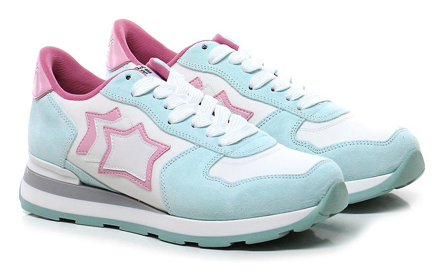 Sneaker Bianco\azzurro\rosa Atlantic Stars Verschleißfeste billige Schuhe