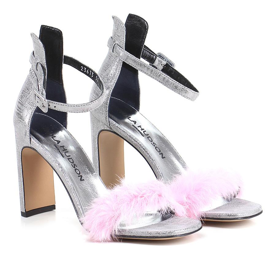 Sandalo alto  Argento/rosa Viola Hudson