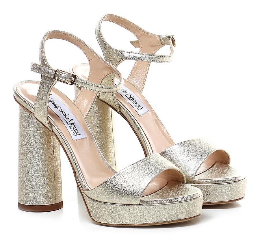 Sandalo alto Platino Giampaolo Viozzi Hohe Qualität
