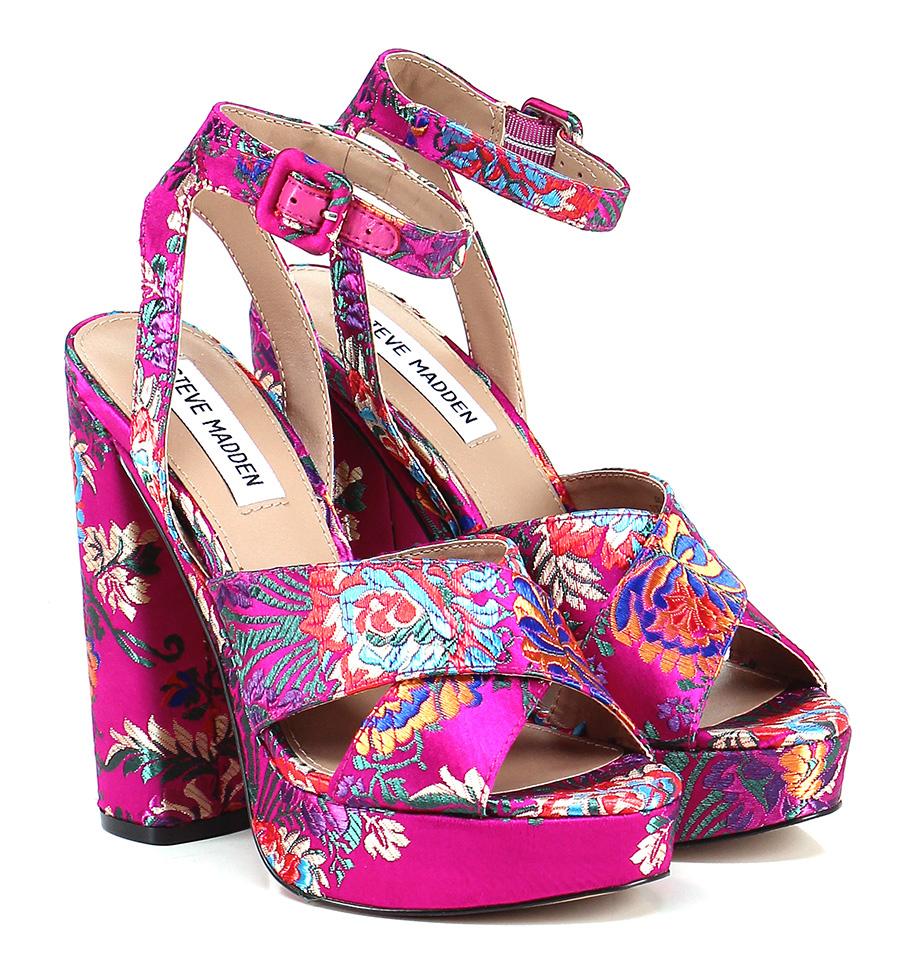 Sandalo alto  Fuxia/multicolor Steve Madden