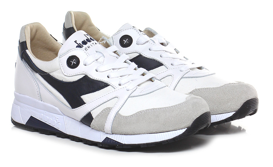 Sneaker White/taupe/black Diadora Heritage Mode billige Schuhe