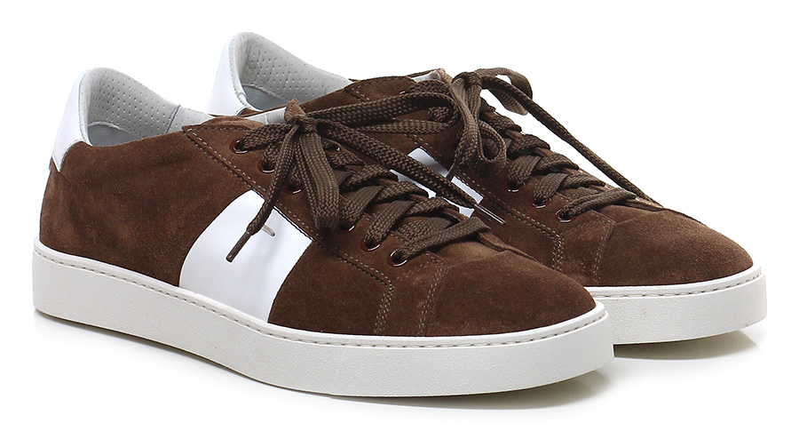 Sneaker Cacao/bianco Santoni Mode billige Schuhe