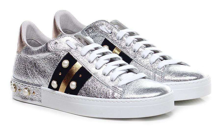 Sneaker Argento/nero/rame Stokton Scarpe economiche e buone
