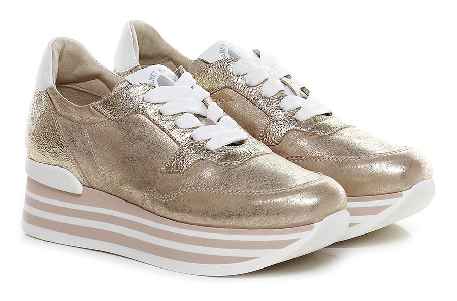 Sneaker Sneaker Sneaker Platino/bianco Janet Sport Verschleißfeste billige Schuhe 3d93ab