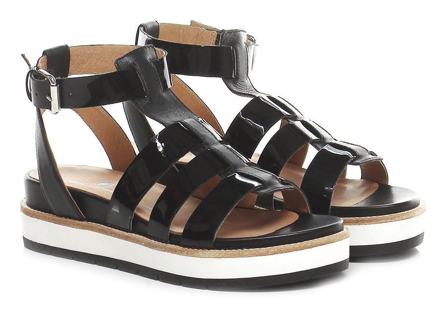 Sandalo basso Nero Janet Sport