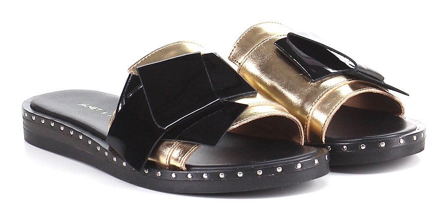 Sandalo basso Oro/nero Janet & Janet