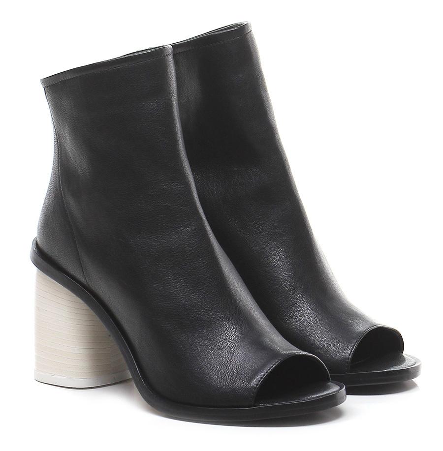 Tronchetto Nero/bianco Lemare' Mode billige Schuhe