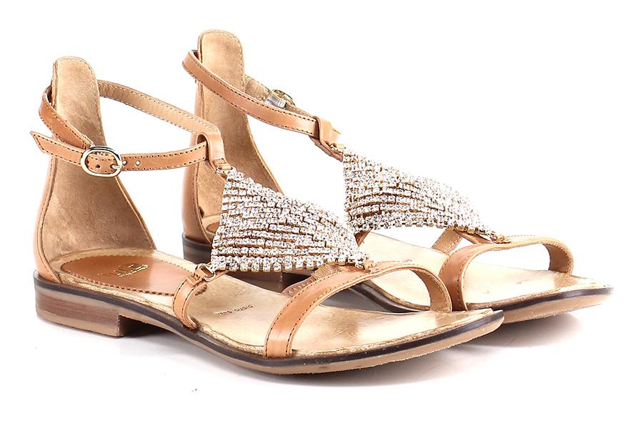 Sandalo basso Cuoio Fruit Mode billige Schuhe