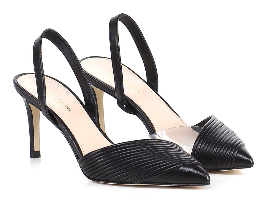 Sandalo alto Nero Miss Martina Hohe Qualität