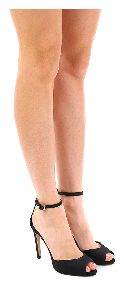 Sandalo alto Nero Miss Martina Mode billige Schuhe
